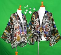 summer poncho, Festival cover-up, Cinco de Mayo, floral robe, beach cover-up, cocoon floral wrap, boardwalk robe, spring festival robe $32.99