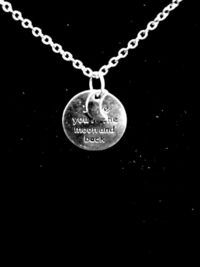 I Love You To The Moon and Back Silver Charm Necklace $8.00