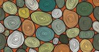 Seamless circles hand-drawn pattern, circles background by Smotrivnebo , via Behance