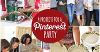 How to throw a Pinterest party and 4 projects to get you started. Includes free instruction downloads! via lilblueboo.com #pinterestparty #mpinterestparty