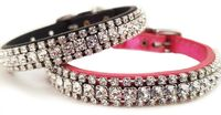 Extra Small Fancy Leather Dog Cat Collar with Swarovski Bling - Diamante | Small Dog Collar | Cat Collars | Kitten Collars, Puppy Collars $37.00