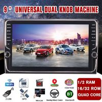 9 Inch Quad Core For Android Car Stereo Radio Touchscreen GPS Navigation Wifi AM with Dual Knob