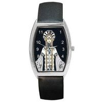 Art Deco Erte Venere in Pellicia on a Womens Barrel Watch with Leather Band $32.00