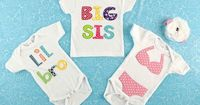 Add a special touch to infant and toddler clothing with these adorable iron-on appliques!