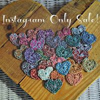 Instagram only sale! ... bag of 20 random crochet hearts for $5 (free shipping in US)