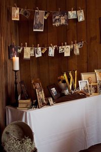Here are some more great pictures from this gorgeous North Carolina real rustic wedding. I love the idea of hanging mason jars from church pews, for more ideas