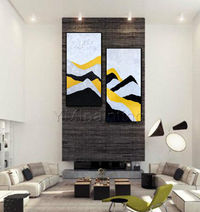 Gold art Modern Abstract Acrylic paintings on canvas original art extra Large Wall Art home Decor wall Pictures cuadros abstractos $89.00
