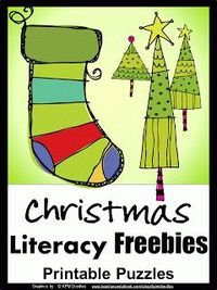 Christmas Word Puzzles FREEBIE from Games 4 Learning
