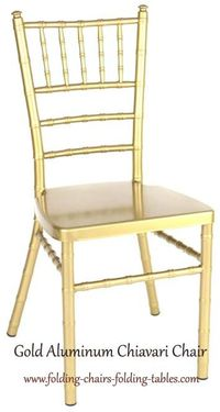 Larry Hoffman Chair  Gold Aluminum Chiavari Chair Super Strong 1,000 lbs Test. UV Protected Light Weight, NO Maintenance. Great for Country Clubs, Hotels, Rental Firms, Wedding Facilities. For buy or get information visit http://www.folding-chairs-foldi...