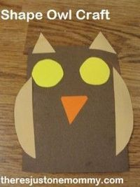 Looking for a cute and simple craft to keep little ones busy while you get things done around the house? How about a shape owl?