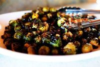 This is the third recipe from my Christmas special on Food Network, and as a Christmas side dish, it's absolutely to die for. Roasted Brussels sprouts are unbel