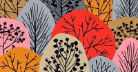 Construction Paper Trees: overlapping paper after drawing in trunks, branches & a few leaves or acorns
