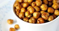 These spicy roasted chickpeas are a light and healthy snack, but that doesn't mean they don't taste good. They are AMAZING!