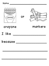 This or That? **Beginning Opinion Writing** Check out the free samples :)