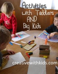 How can you do activities with toddler when you also have big kids around? These 7 helpful tips will make doing toddler activities much simpler!