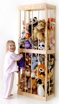 A Zoo for stuffed animals. At least they aren't all over the floor!