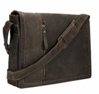 Visconti Foster 16072 13.3 inch Distressed Oiled Leather Laptop Messenger Bag