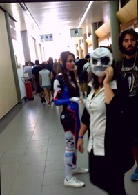 An Overwatch cosplayer from Cyprus Comic Con.