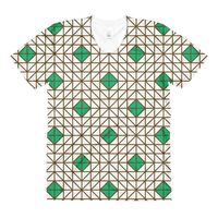 Exclusively from And Above All YOGA --- �€œGreen-Brown Mosaic�€ Women's Crew Neck T-Shirt for just $41.00 with FREE SHIPPING