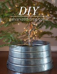 DIY Galvanized Tree Collar