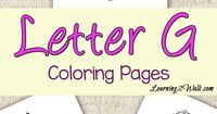 Use these letter g coloring pages as a part of your preschool letter activities.