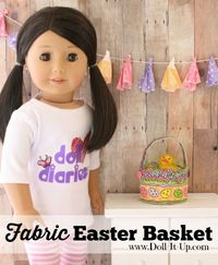 Make an Easter basket for dolls out of fabric