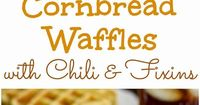Cornbread Waffles with Chili & Fixins' from The Country Cook #MarthaWhite #CornbreadCookOff