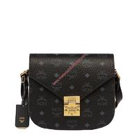 MCM SMALL PATRICIA VISETOS SHOULDER BAG IN BLACK