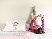 You make me wet a sexy ,dirty rude vulgar pillow case gag gift| batchelor party |batchelorette party | $19.95