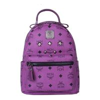 MCM Mini Stark Six Studded Backpack In Purple