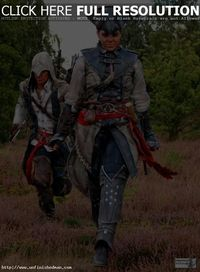 Assassin's Creed 3 Cosplay --- Connor and Aveline Cosplay! Brilliant Cosplay:) Coser: Rick & Dominique