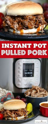 Instant Pot Pulled Pork. Such an Easy Pressure Cooker BBQ Recipe! With only 5 minutes of prep time and a pressure cooker, this easy Instant Pot Pulled Pork recipe makes the best BBQ sandwiches!