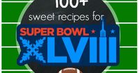 Over 100 sweet treats and dessert recipes that will be perfect for serving during Super Bowl festivities!