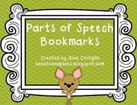 FREEBIE: Parts of Speech Bookmarks