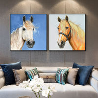Framed wall art Original horse art paintings on canvas acrylic knife animals painting large wall art Pictures Home Decor cuadros abstractos $149.00