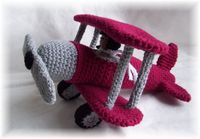 Flying High Airplane Crochet Pattern designed by KTBdesigns! Check out her Etsy shop and website!