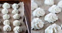 Frozen Whipped Cream Dollops for hot chocolate bar