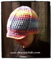 f5b157f41ef Crochet Toddler Ball Cap - Dearest Debi Patterns