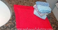 Posh Pooch Designs Dog Clothes: Washcloth Pattern - Free Knitting Pattern for Beginners | Posh Pooch Designs