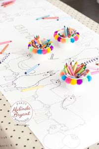 Llama Birthday Party Decorations Paper Table Runner Cactus Baby Shower Coloring Page Activity Tablecloth Personalized Decor Childrens Games $25.88