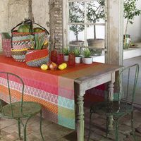 Bastide Coated Table Linens in Pepper Red $190.00