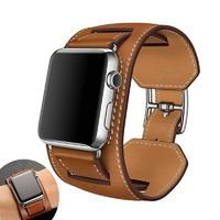 Leather Cuff Strap For Apple Watch Band 38mm 42mm 40mm 44mm for iWatch Series 4 3 2 1 $28.99