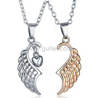 Matching Pendants Anniversary Jewelry Gifts for Couples Set of 2 by Gullei.com