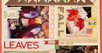 So I'm really in love with the Acorn Avenue line and I think this layout is gorgeous. (Naomi Atkins for the Crate Paper blog)
