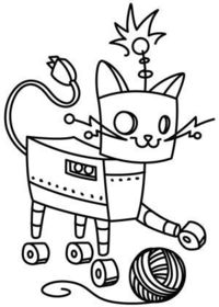 Embroidery Designs at Urban Threads - Robo-Kitty