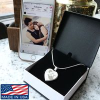 Personalized Heart shaped Photo Picture Pendant with Necklace $39.95