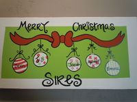 Handpainted and personalized Christmas canvas