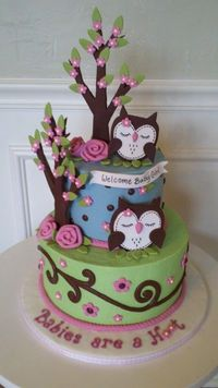 Owls!! Love the swirls - Click image to find more Wedding & Events Pinterest pins