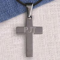 Faith is simple and so is this lovely Personalized Stainless Steel Cross, the ideal gift for those who don't like ornate jewelry. A good gift for a First Communion, Confirmation, graduation, birthday, or other special celebration, this cross include...