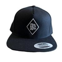 "THIGHBRUSH® ""69% ER DIAMOND COLLECTION"" - Wool Blend Snapback Hat - Black with Silver - Flat Bill"